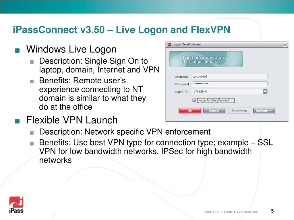 iPassConnect v3.50 – Live Logon and FlexVPN