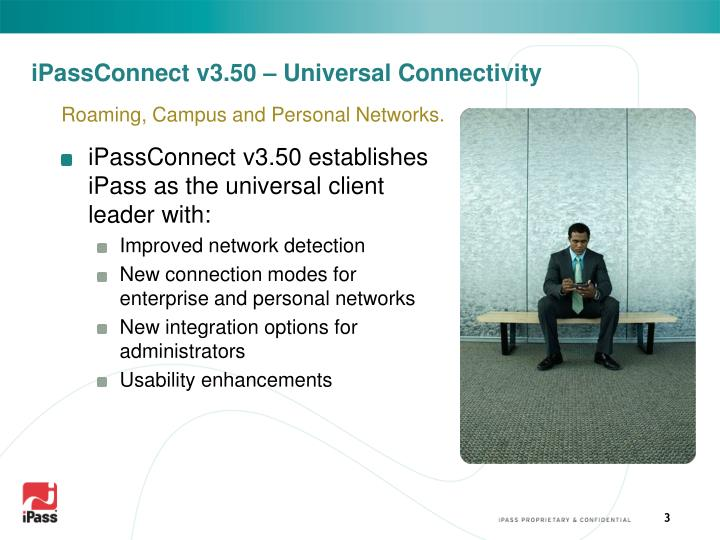 Ipassconnect v3 50 universal connectivity