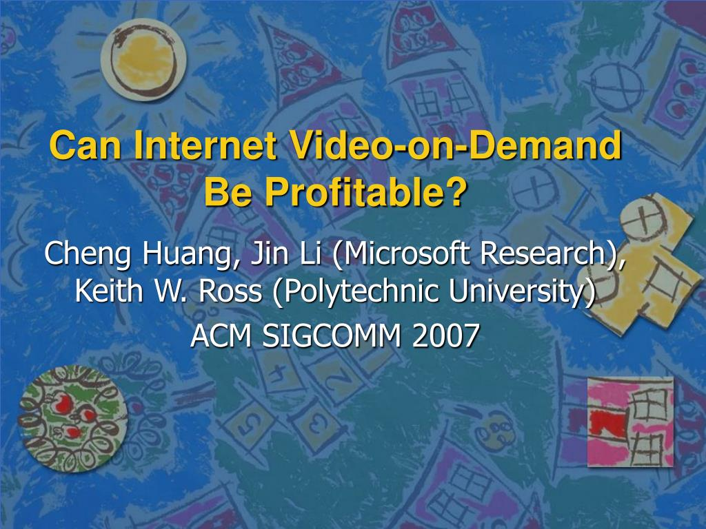 can internet video on demand be profitable l.
