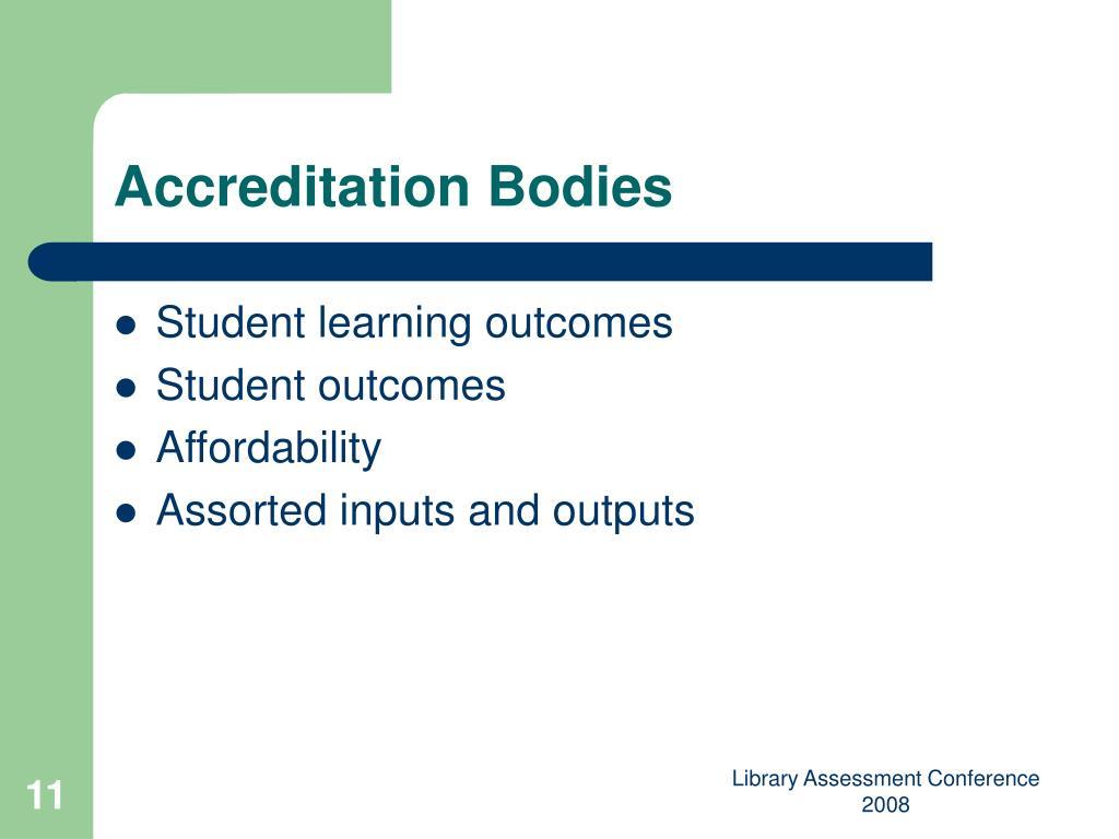 Accreditation Bodies