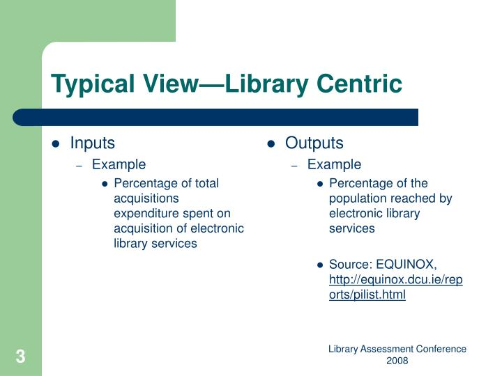 Typical view library centric