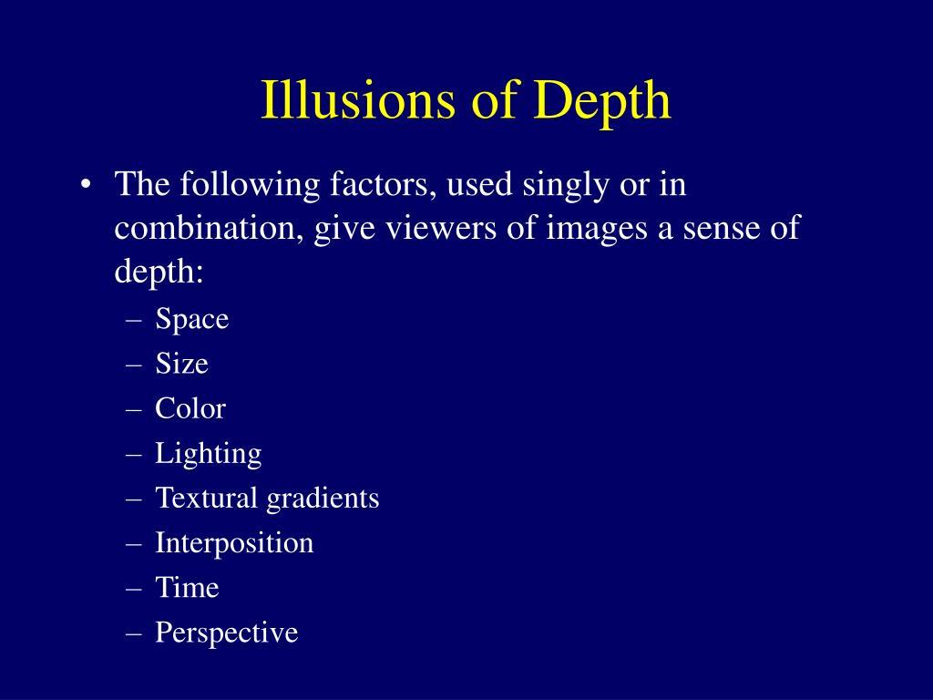 Illusions of Depth