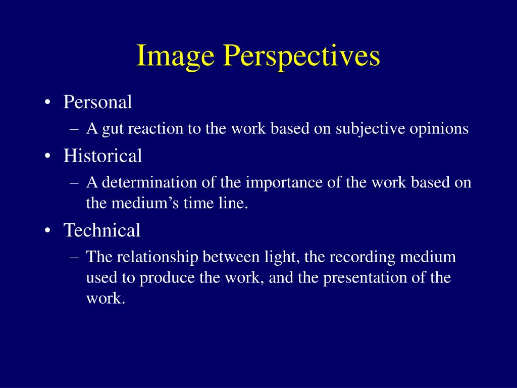 Image Perspectives