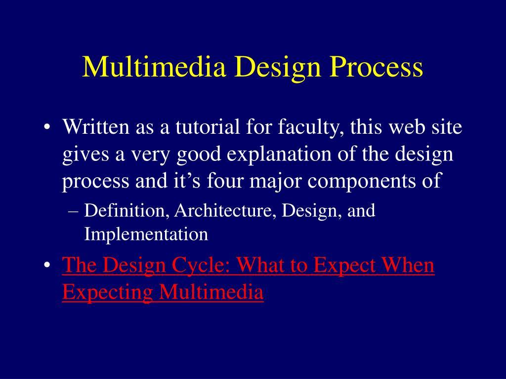Multimedia Design Process