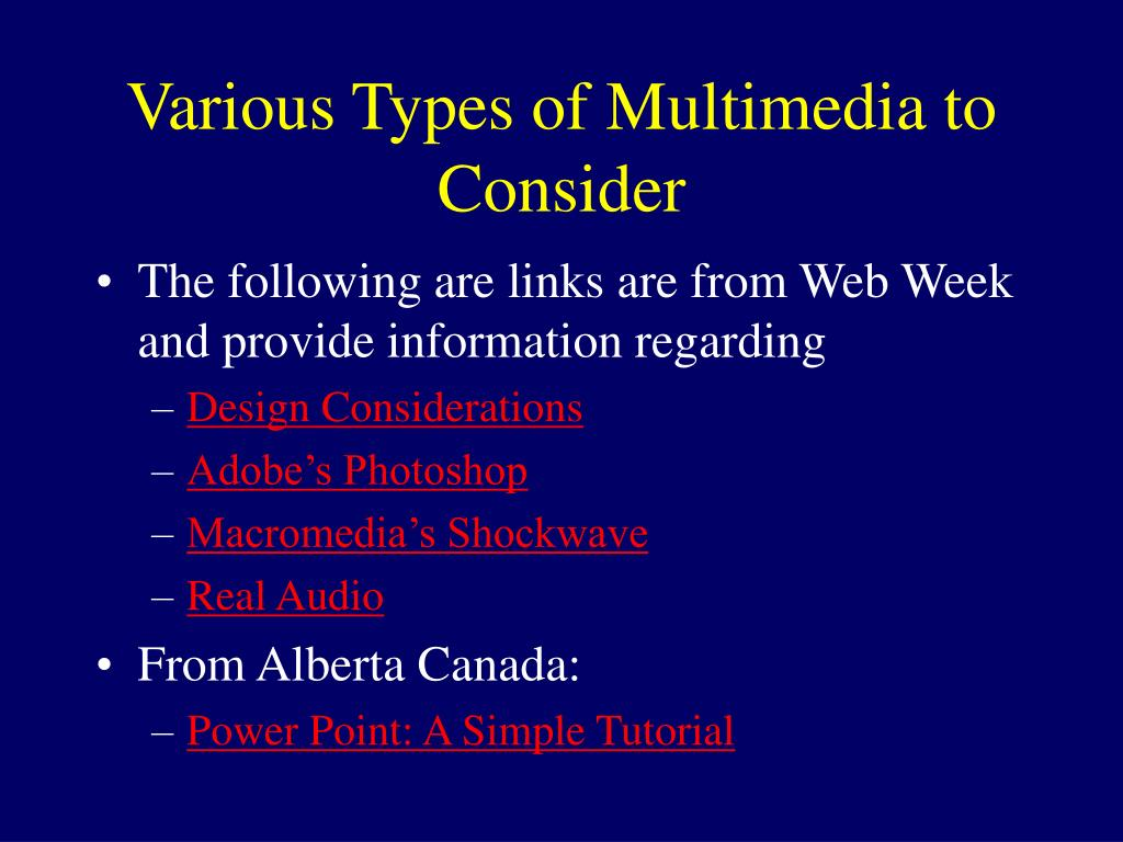 Various Types of Multimedia to Consider