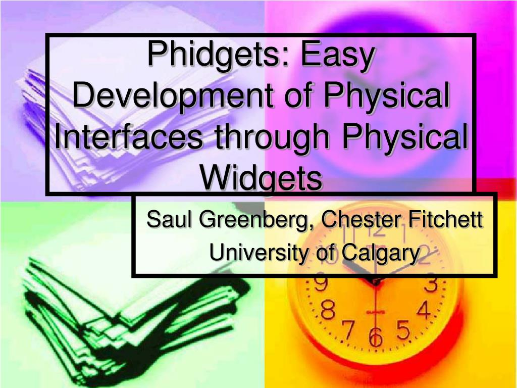phidgets easy development of physical interfaces through physical widgets l.