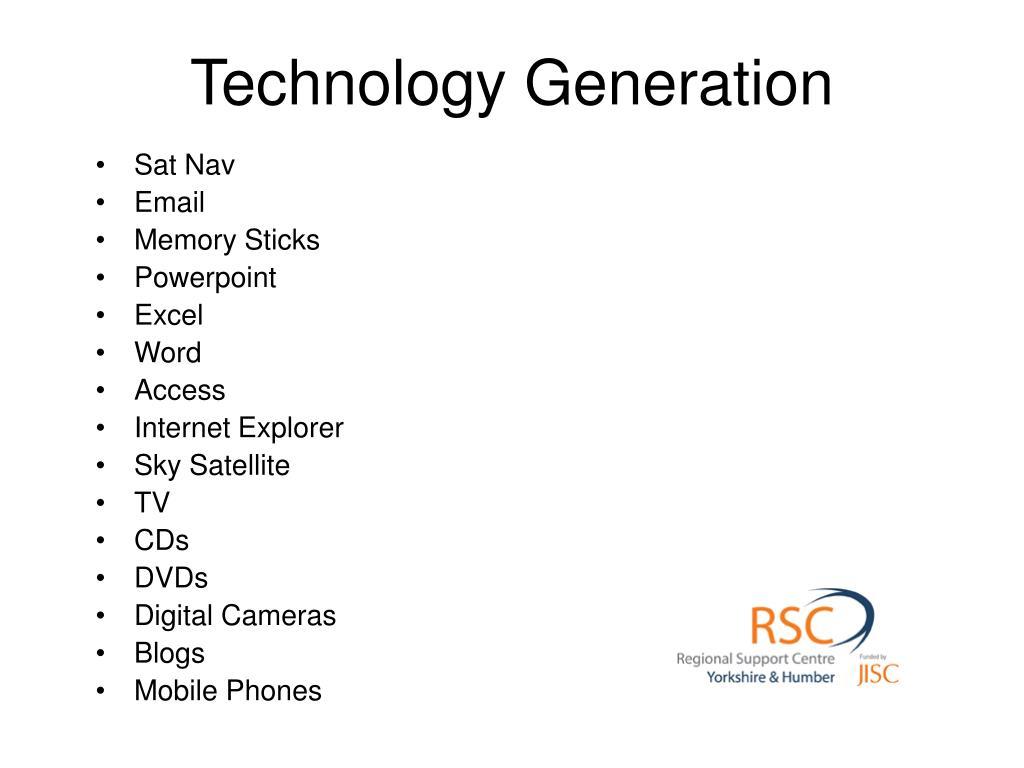 Technology Generation