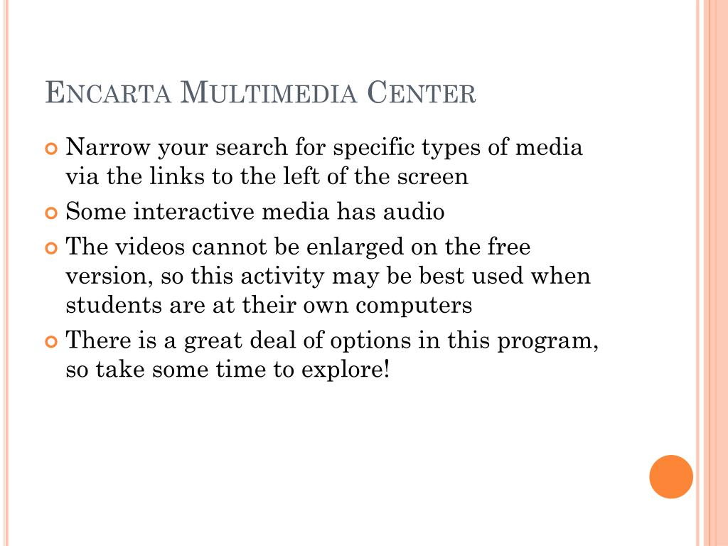 Encarta Multimedia Center