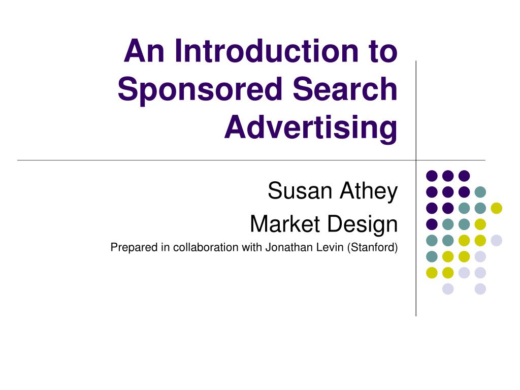 an introduction to sponsored search advertising l.
