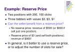 example reserve price