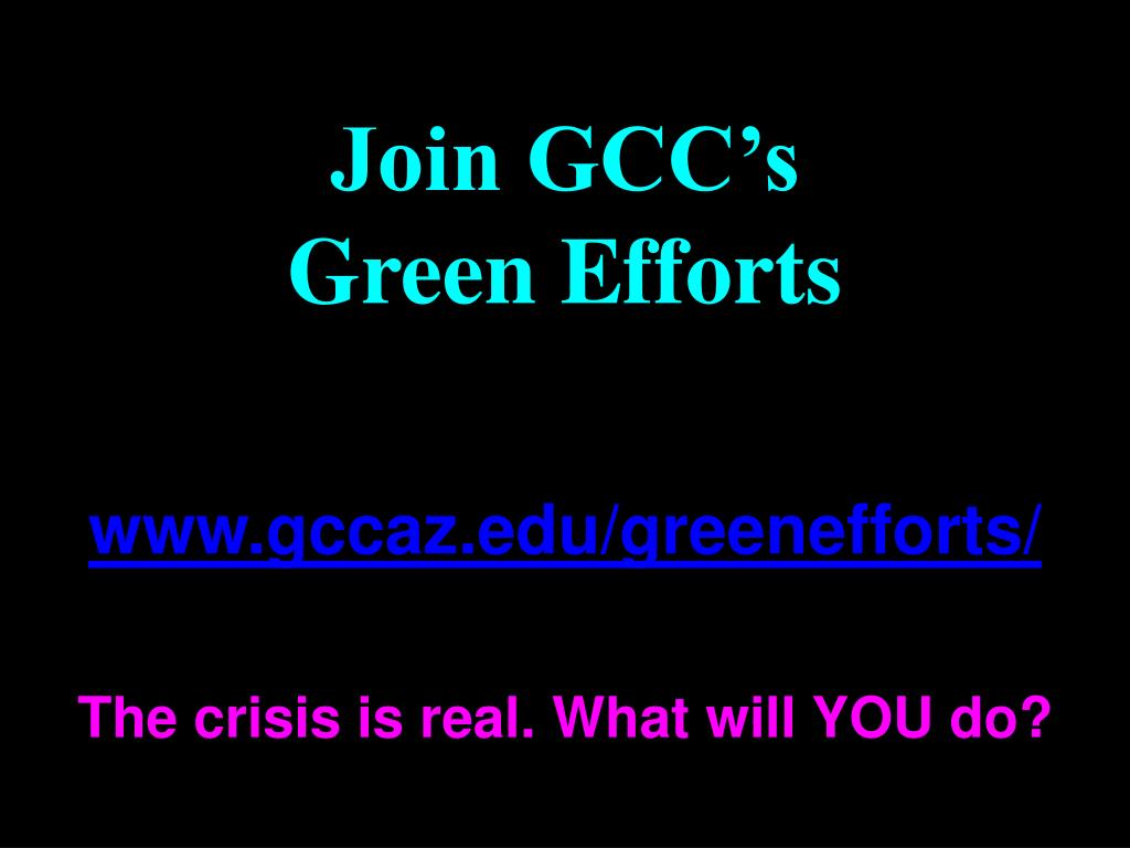 Join GCC's