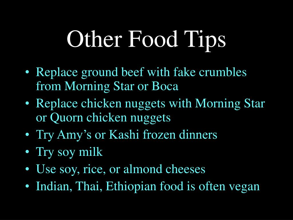 Other Food Tips