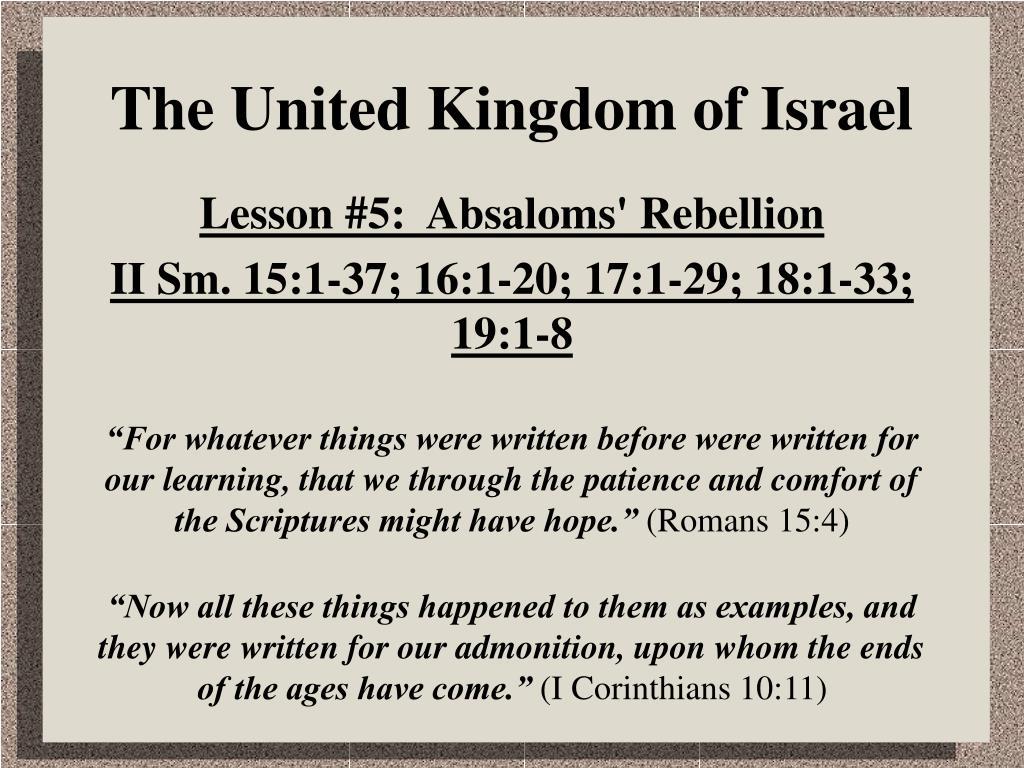 The United Kingdom of Israel