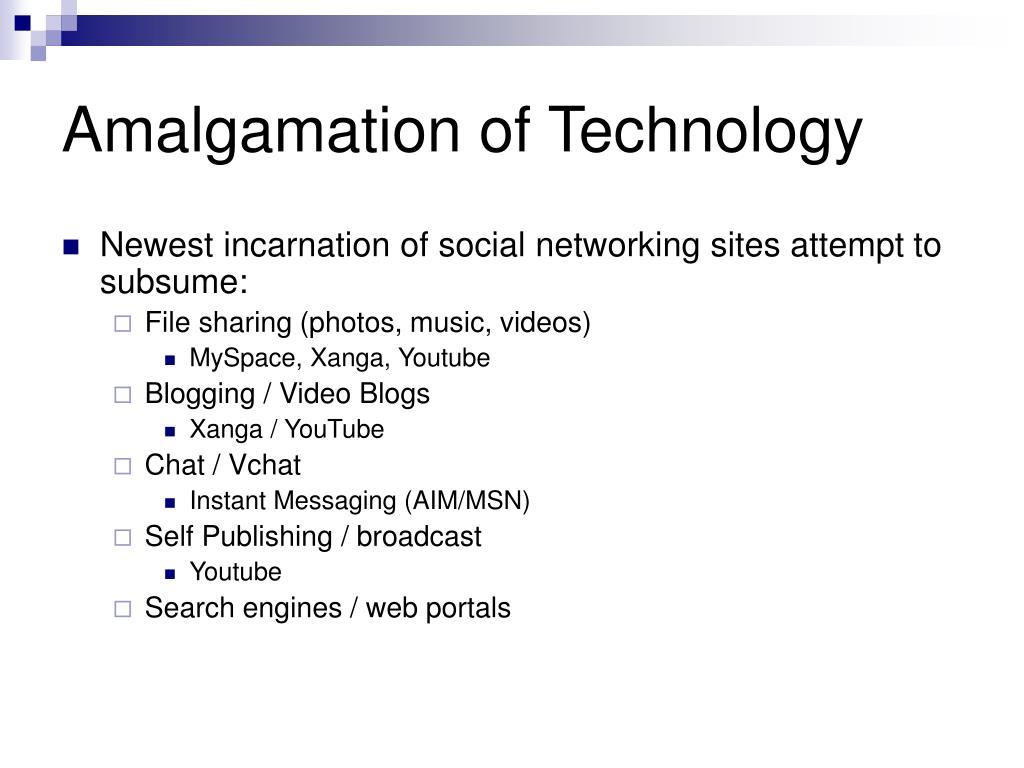 Amalgamation of Technology