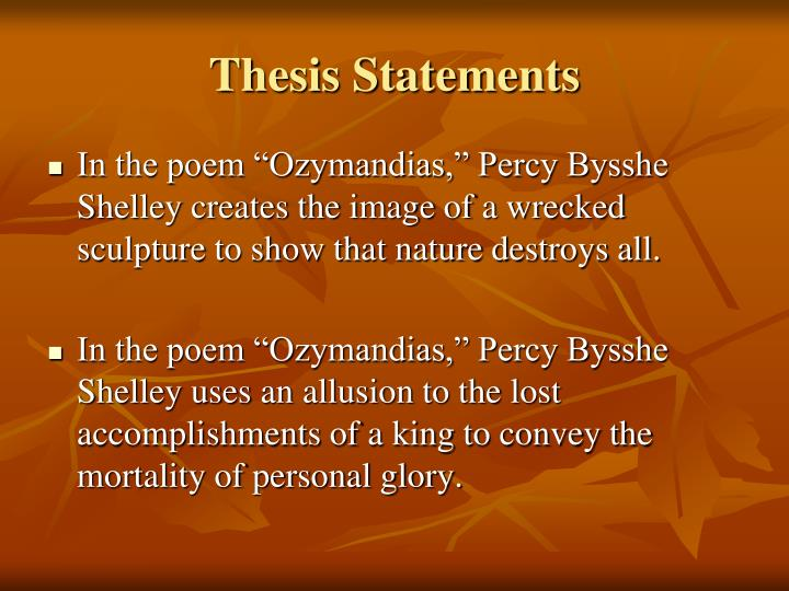 """shelleys poem essay Speech: percy bysshe shelley and shelley essay the sonnet ozymandias by percy bysshe shelley is about meeting a traveller """"from an antique land"""" who epitomizes seeing a large, broken statue lying in the middle of the desert."""