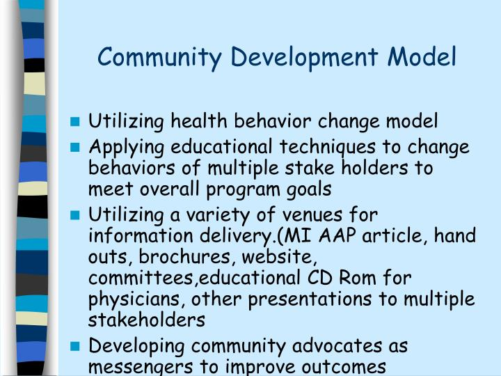 Community development model3