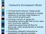 community development model3