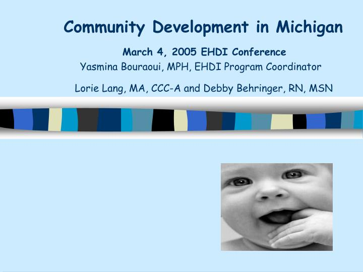 Community Development in Michigan