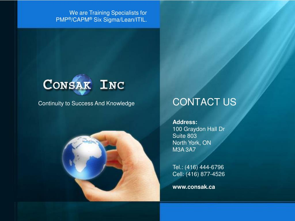 We are Training Specialists for PMP