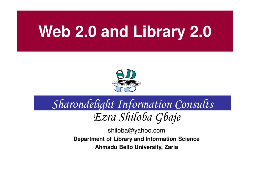web 2 0 and library 2 0 l.
