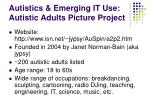 autistics emerging it use autistic adults picture project