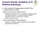 current trends autistics it political advocacy