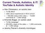 current trends autistics it youtube autistic identity