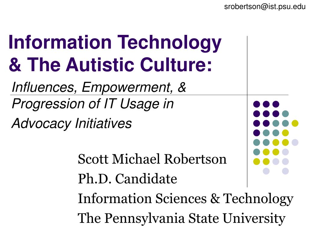 information technology the autistic culture l.