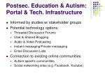 postsec education autism portal tech infrastructure