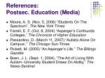 references postsec education media