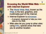 browsing the world wide web with internet explorer