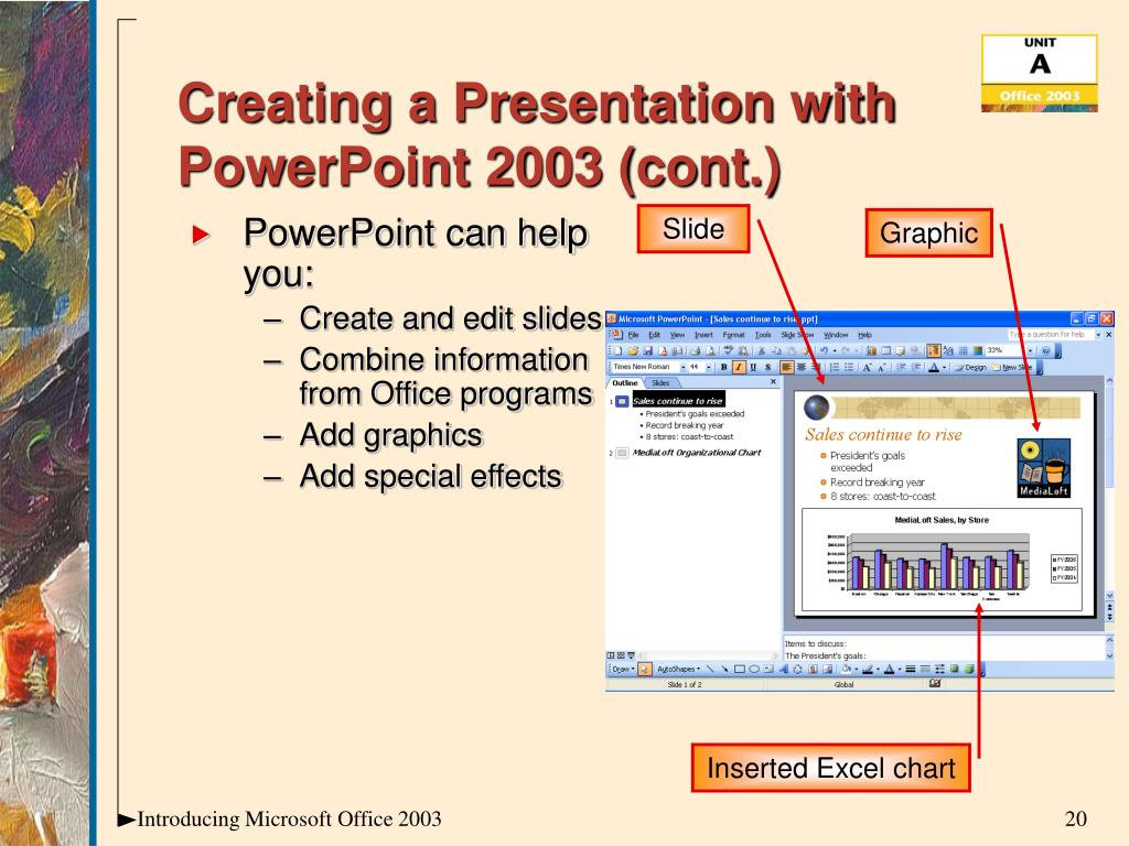 Creating a Presentation with PowerPoint 2003 (cont.)