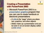 creating a presentation with powerpoint 2003