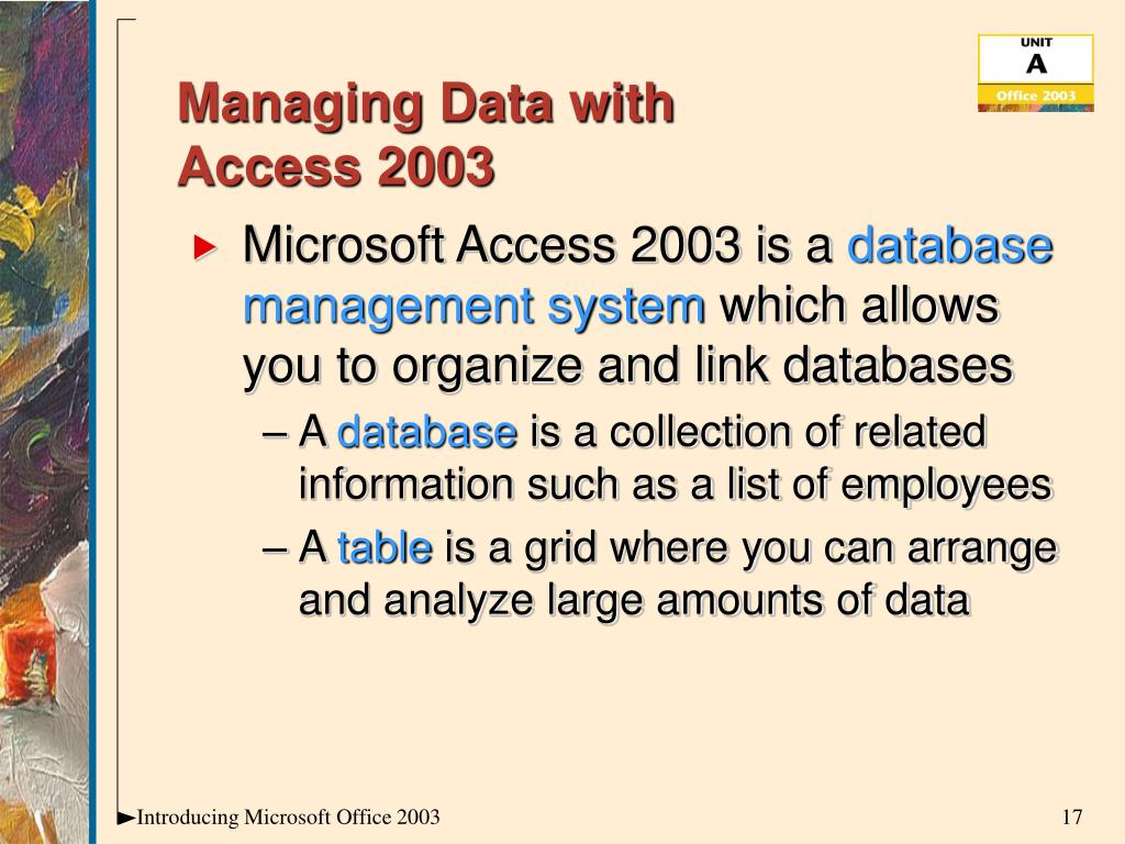 Managing Data with