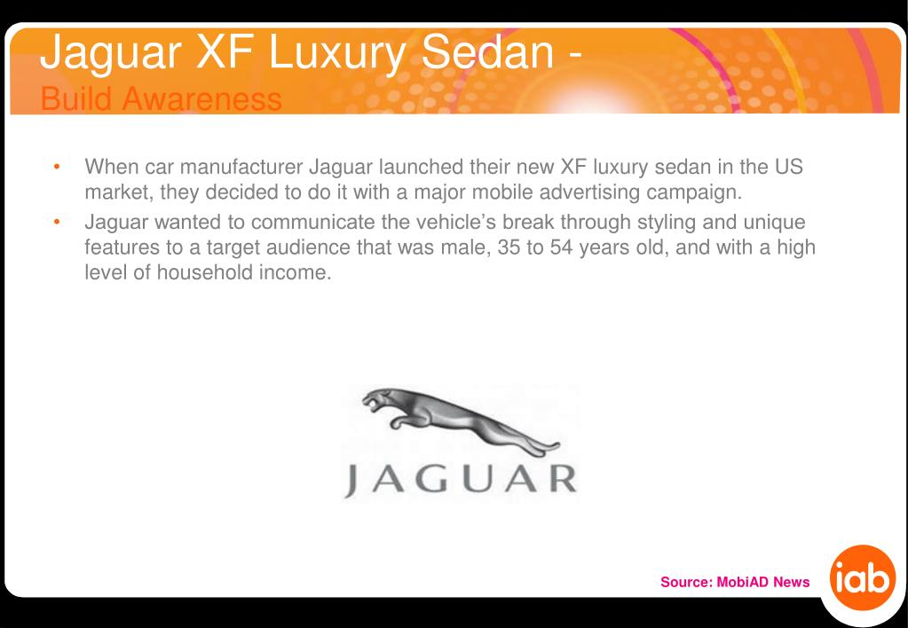 jaguar xf luxury sedan build awareness l.