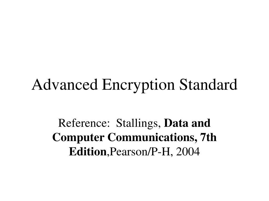advanced encryption standard l.
