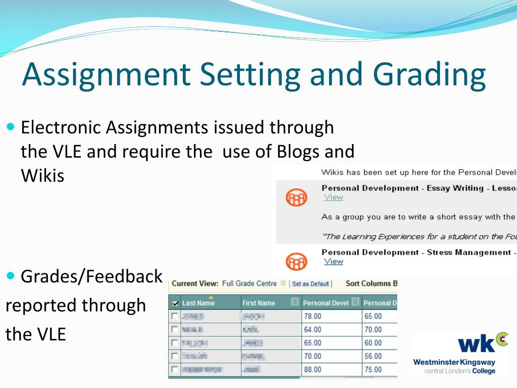 Assignment Setting and Grading