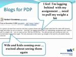 blogs for pdp