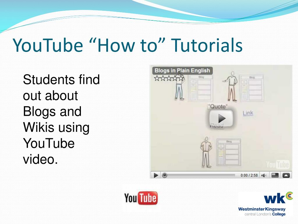 """YouTube """"How to"""" Tutorials"""