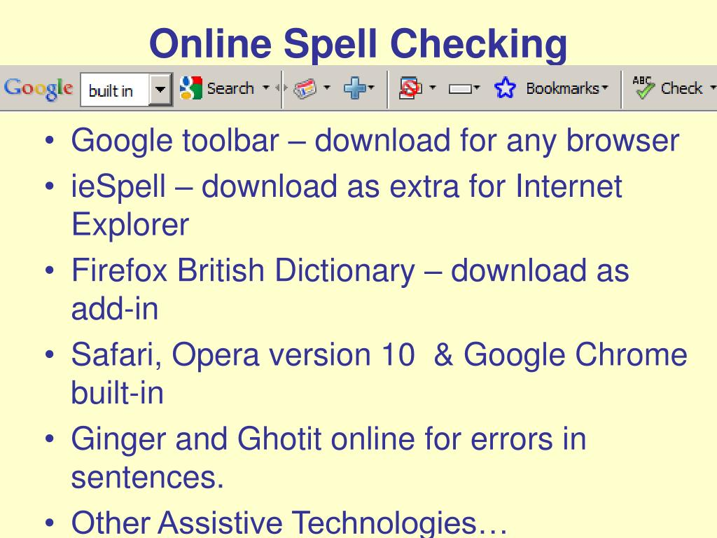 Online Spell Checking