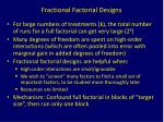 fractional factorial designs2