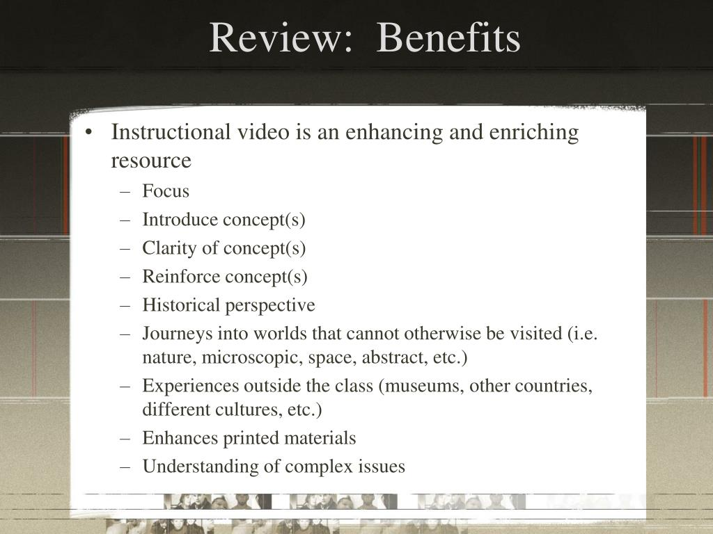Review:  Benefits