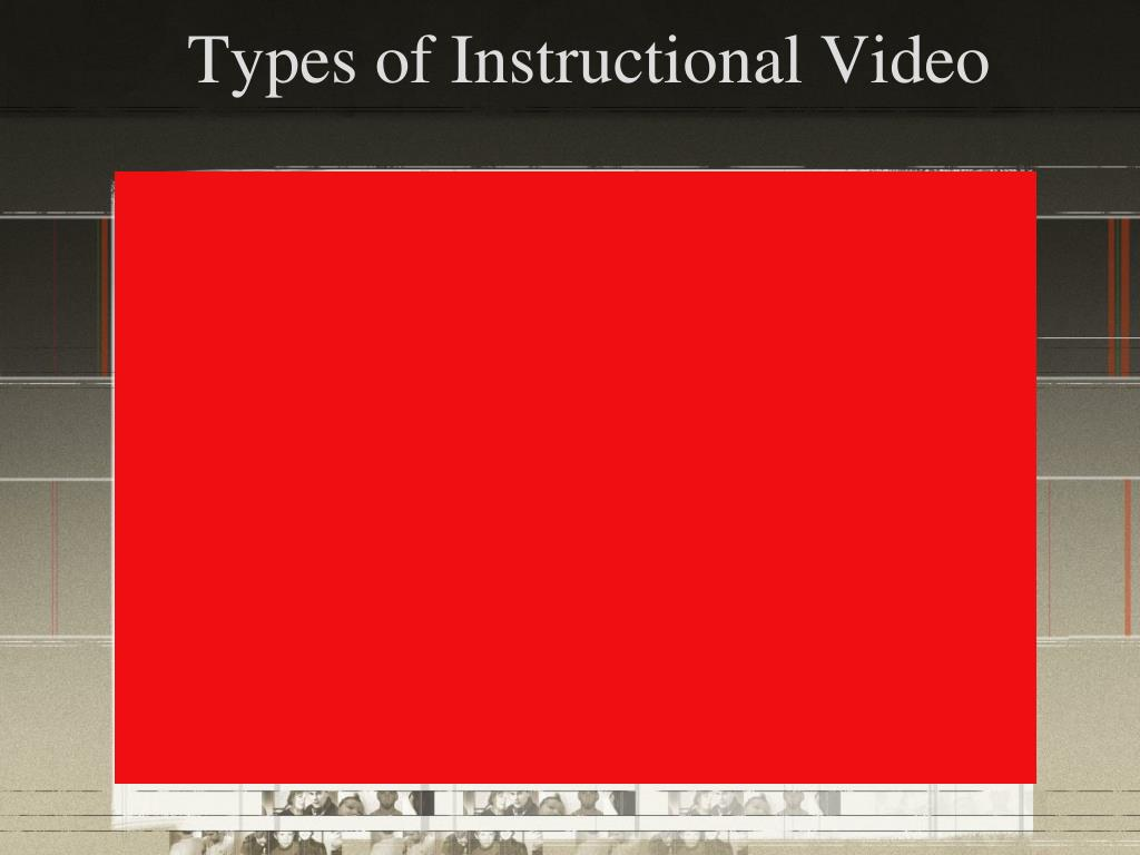 Types of Instructional Video