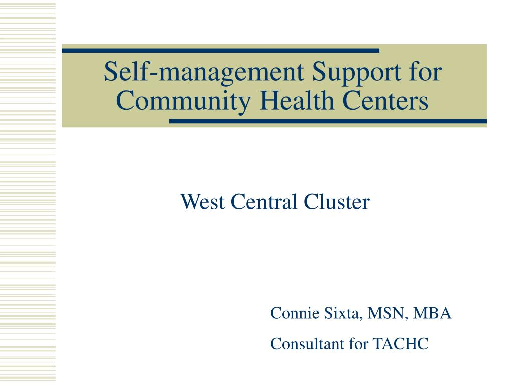 self management support for community health centers l.
