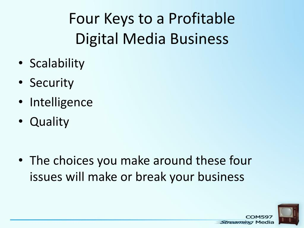 Four Keys to a Profitable