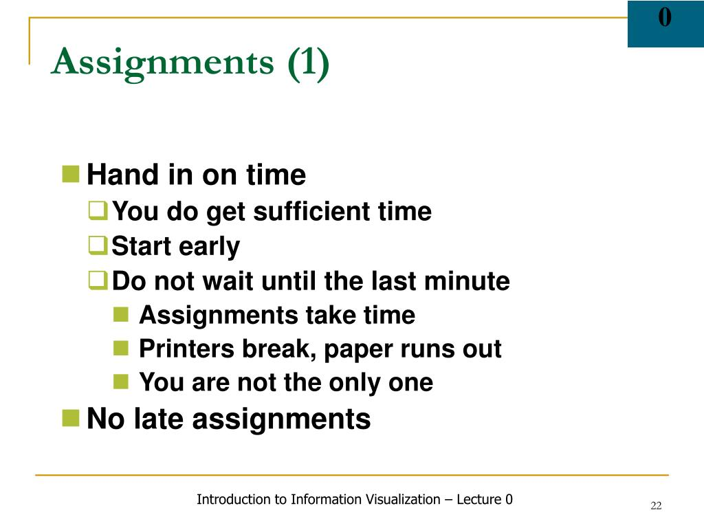 Assignments (1)