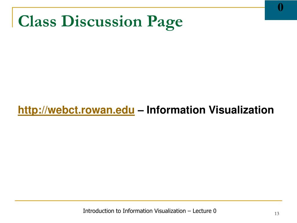 Class Discussion Page