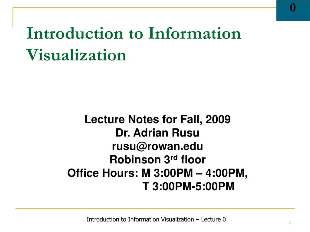 introduction to information visualization l.