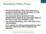 mandatory office visits
