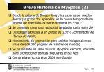 breve historia de myspace 2